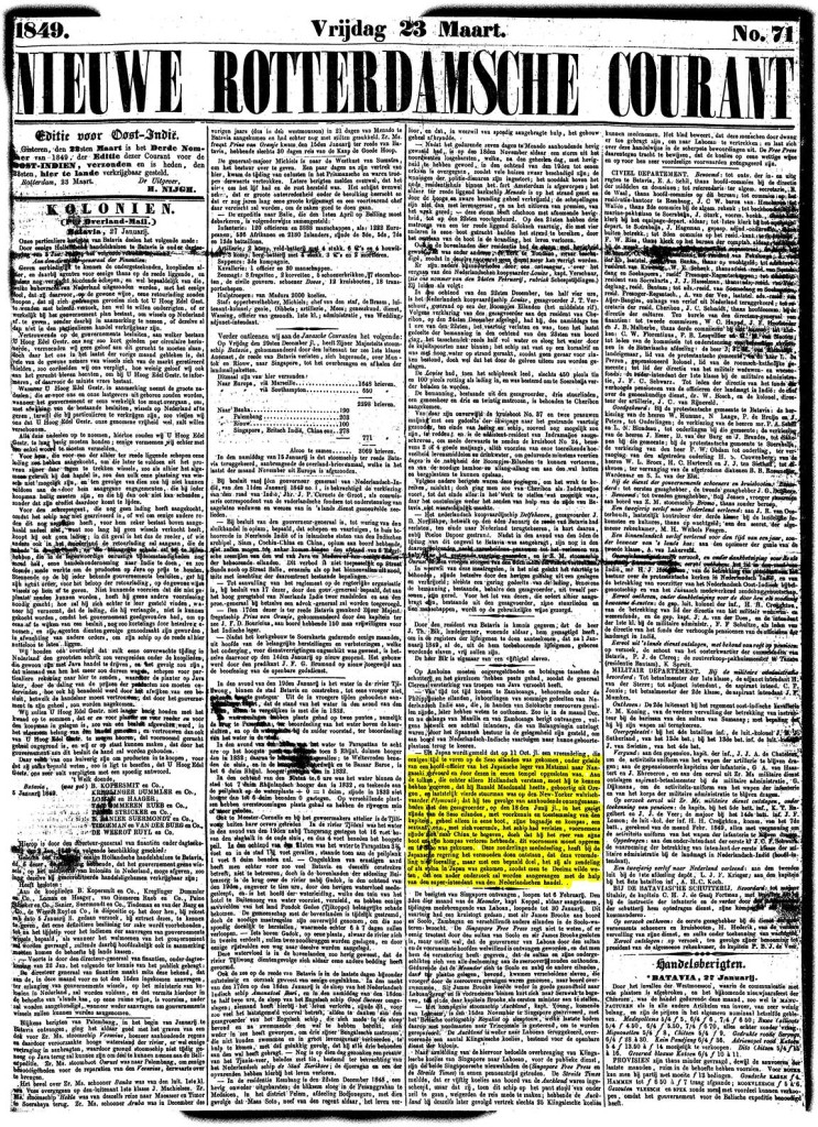 1849-03-23-(MacDonald-reported-in-Nagasaki)Nieuwe-Rotterdamsche-Courant-no-71_Page_1kl